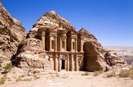 petra  jordan: The Monastery in ancient city of Petra, Jordan