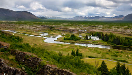 tectonics: Thingvellir National Park - place where the first icelandic parliament  althing  seated