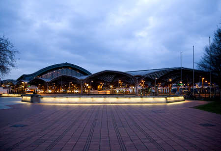 Main railway station in Cologne at night