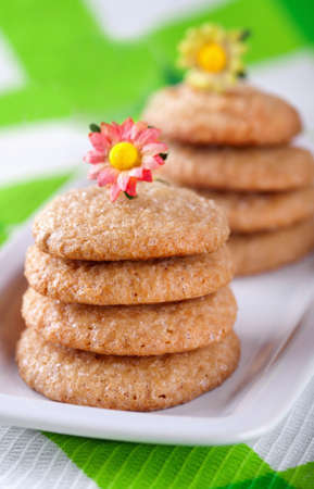 Homemade cookies on white plate Stock Photo