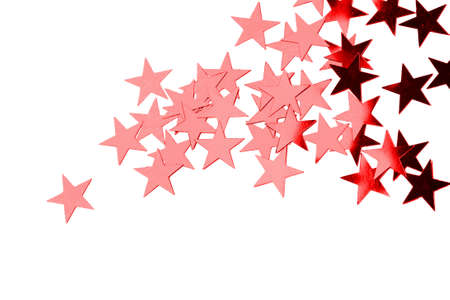 Holiday red stars isolated on white background Stock Photo - 16478141