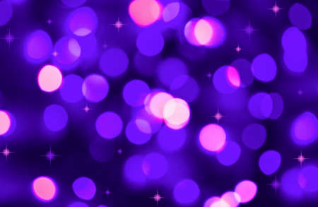 Abstract background of defocused lilac holiday lights  photo