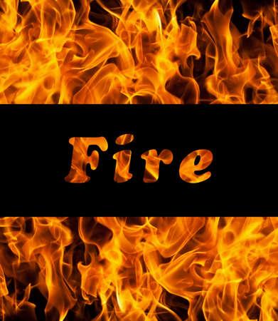 l petrol: Primer plano de las llamas del fuego y el espacio para el texto