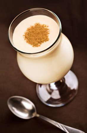 Milk cocktail with cinnamon