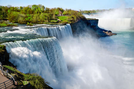 American side of Niagara Falls in summertime