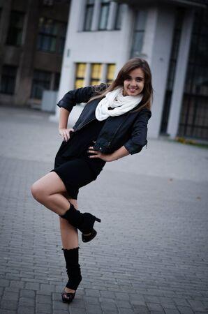 uppers: Street girl Stock Photo