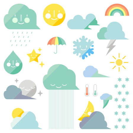 Weather elements  Stock Vector - 15425303