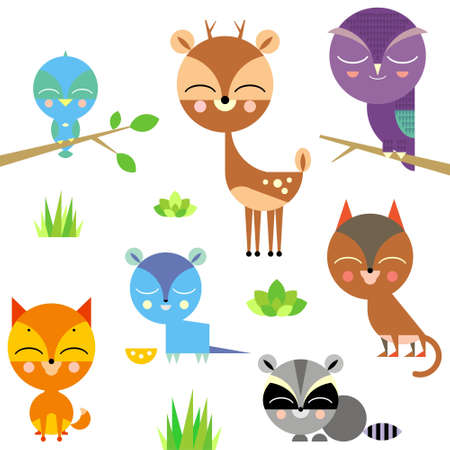 Cute animal set  Stock Vector - 15425298