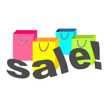 Shopping bags with Sale text in front