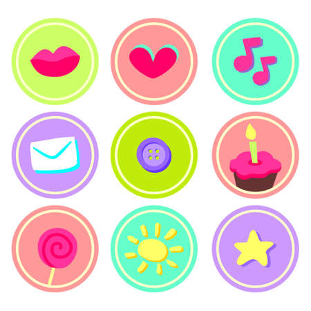 Cute stickers for scrapbooking