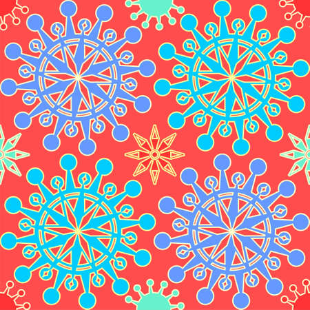 Beautiful snowflakes seamless pattern