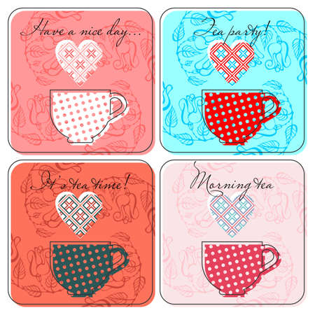 Tea labels set   Illustration