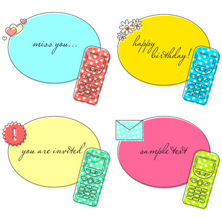 Old cellphone templates for greeting cardsinvitations