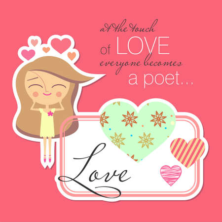Valentine card design   Vector