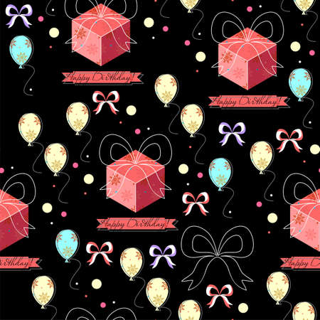 Birthday seamless pattern