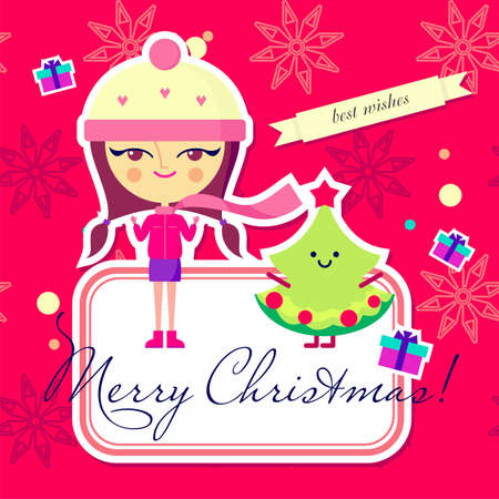 Christmas card design  vector version