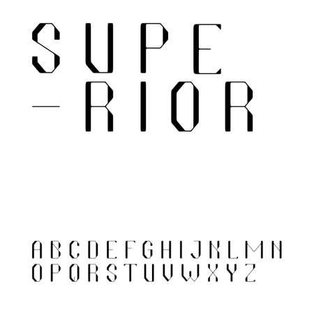 Beautiful sans serif font in uppercase