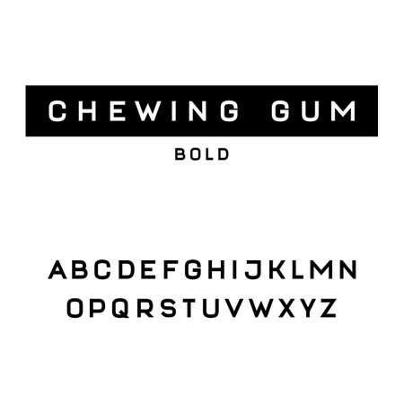 serif: Simple and clean sans serif font (bold version)