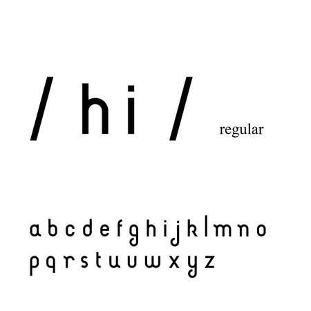 sans serif: Cute simple sans serif font in lowercase
