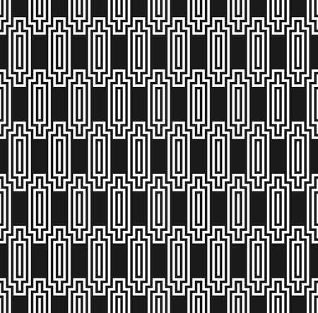 Art deco style seamless ziggurat pattern Vector Illustration
