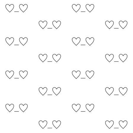 st  valentine's: St. Valentines Day minimalistic seamless pattern with In love emoticon in linear style