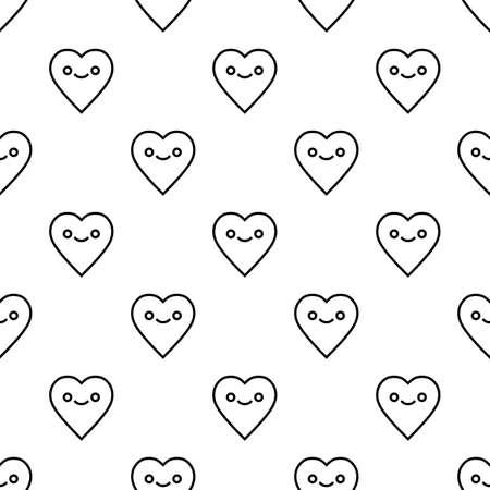 St. Valentinstag nahtlose Muster mit Herzcharakter