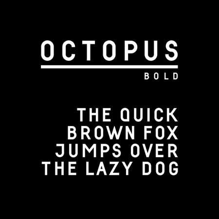 serif: Trendy sans serif font in uppercase (bold version)