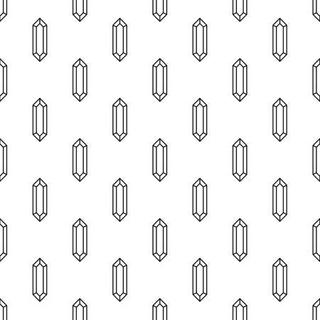 faceting: Diamonds seamless pattern in linear style Illustration