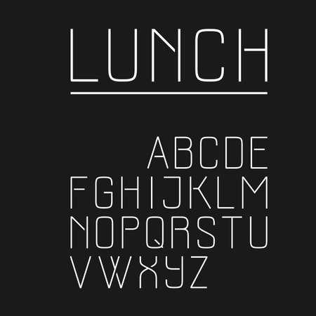 uppercase: Elegant sans serif font in uppercase