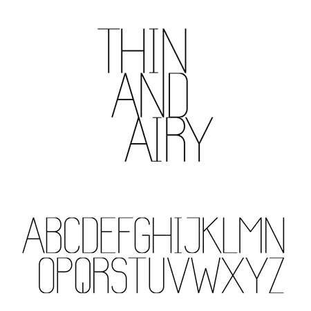 Beautiful sans serif font set