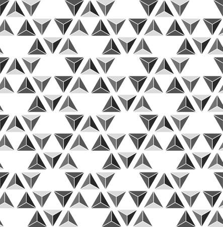 Abstract triangle monochrome seamless pattern