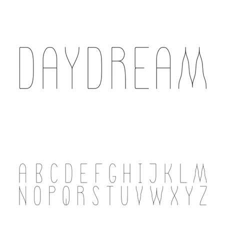 serif: Beautiful light sans serif font set Illustration