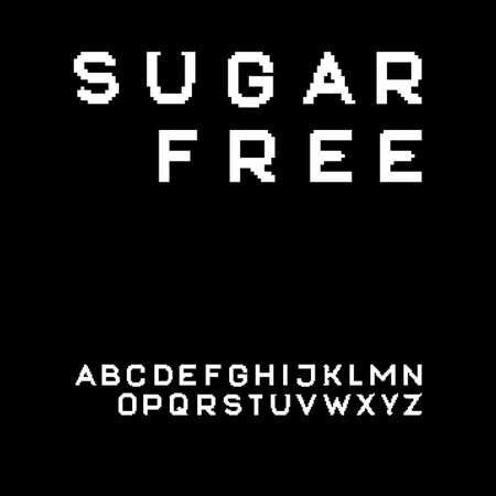 uppercase: Pixel sans serif font in uppercase Illustration