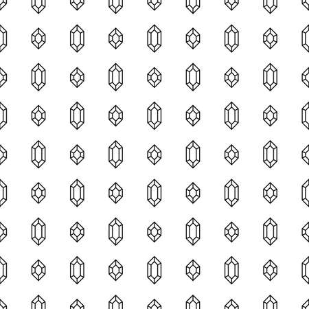 Diamonds seamless pattern in linear style Illustration