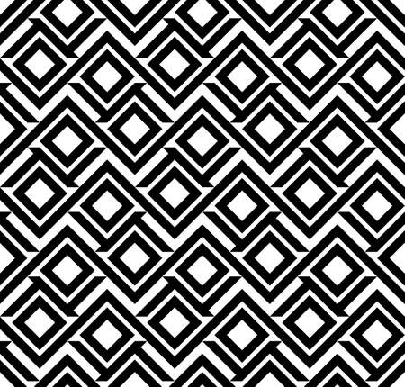 Abstract black and white seamless pattern
