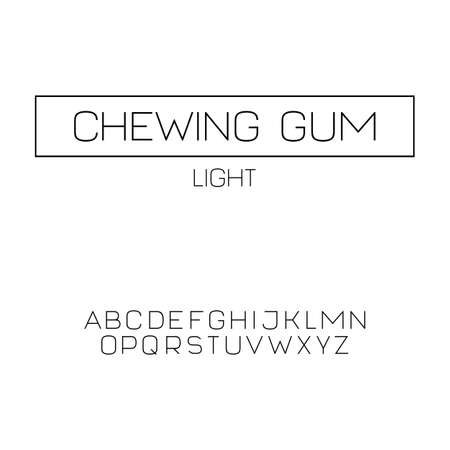 Simple sans serif font in uppercase (light version)