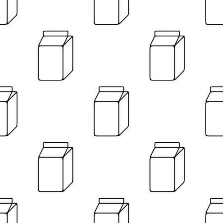 envase de leche: Modelo inconsútil de la caja de leche en blanco y negro