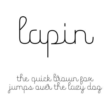 lowercase: Cute script font with Latin letters in lowercase