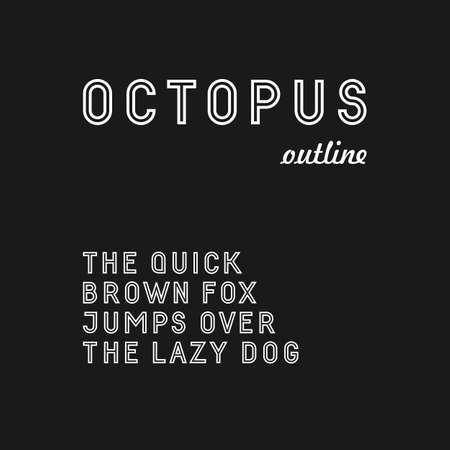 serif: Trendy sans serif font in uppercase outlined version