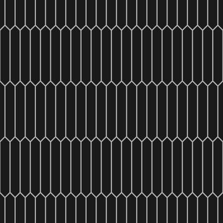 picket: Seamless monochrome pattern of picket tiles