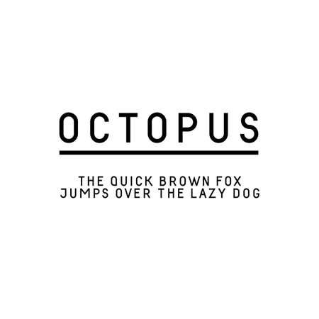 uppercase: Trendy sans serif font in uppercase