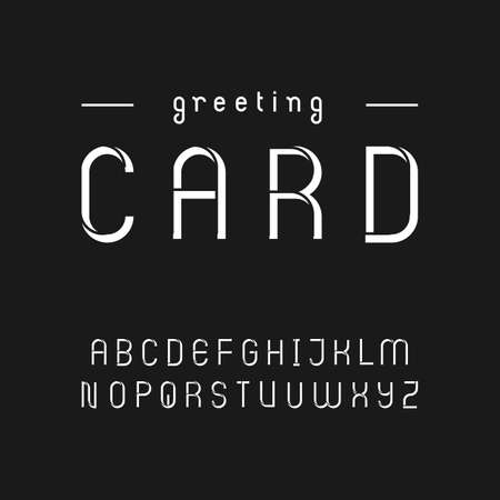 uppercase: Vintage style stencil font in uppercase