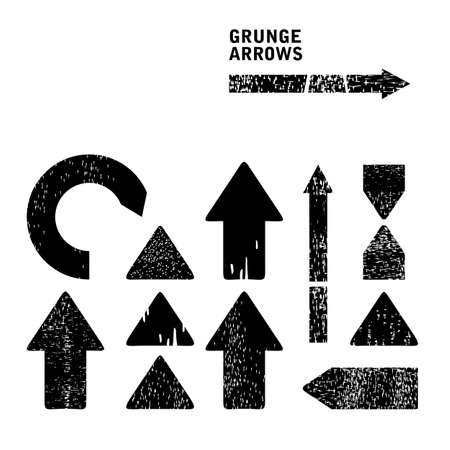 left arrow: Grunge arrows set Illustration