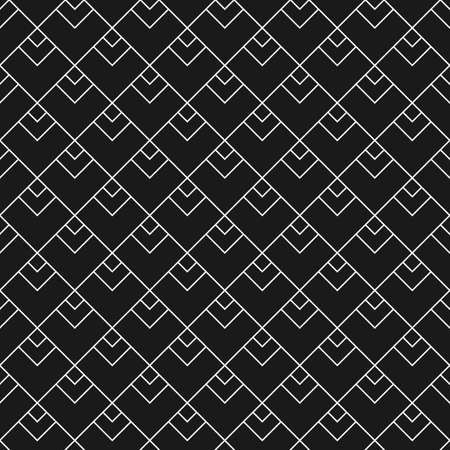 Linear seamless pattern with triangular scales in black and white Illustration