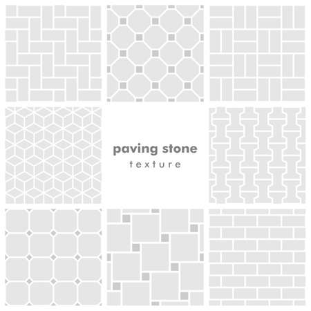 Set of eight paving stone seamless patterns