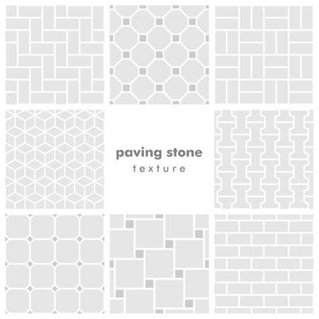 brickwork: Set of eight paving stone seamless patterns