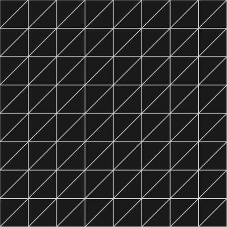 Geometric seamless pattern with triangular cells in black and white