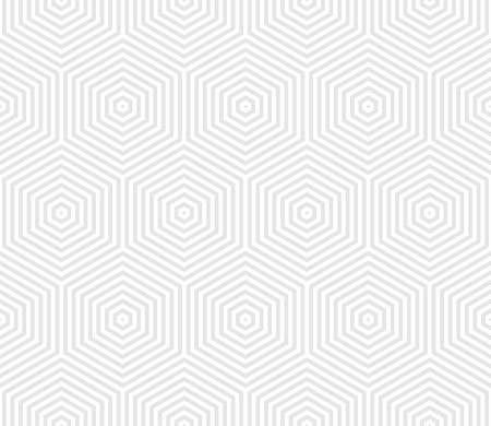 Geometric seamless pattern with hexagons in light grey