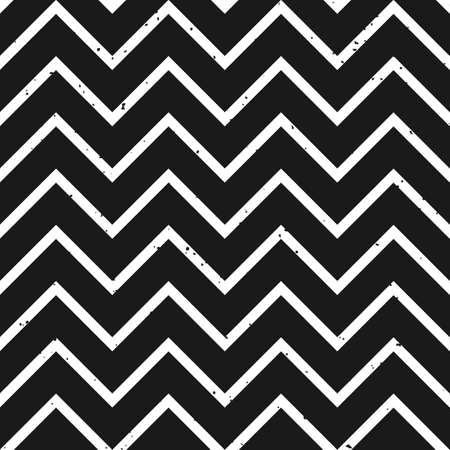 Black and white zigzag seamless pattern with removable grungy texture