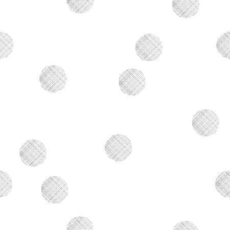 Black and white seamless pattern with textured dots Illustration